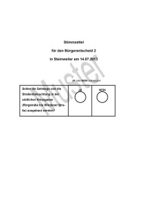 Stimmzettel 2