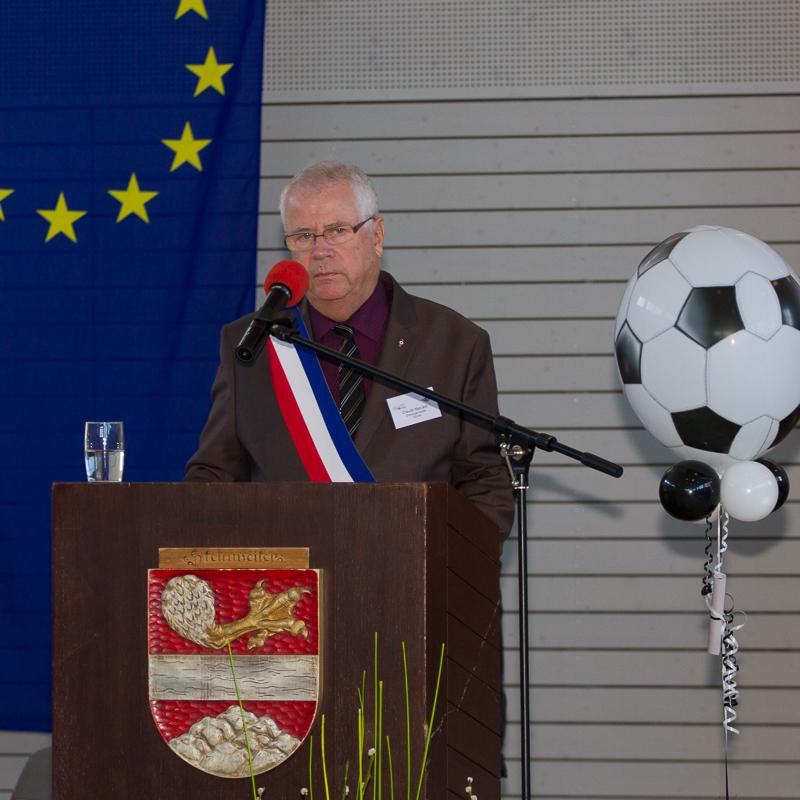 Grußwort von Claude Merckel, Grußwort der örtlichen Vereine, Gerald Claus  Bürgermeister von Epinac