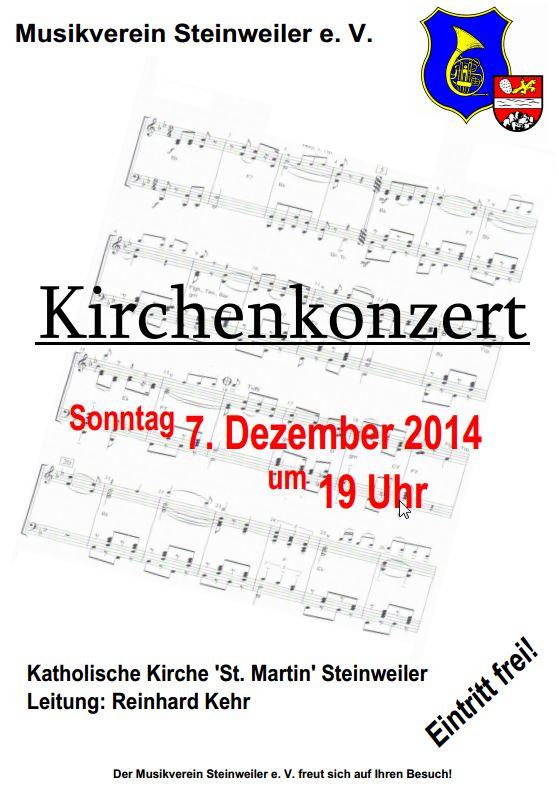 Konzert des MV Steinweiler i.d. kath Kirche