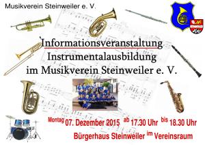 Instrumentalausbildung beim MV Steinweiler