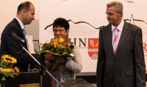 … und Blumen an Irene Forstner