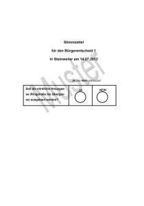 Stimmzettel 1