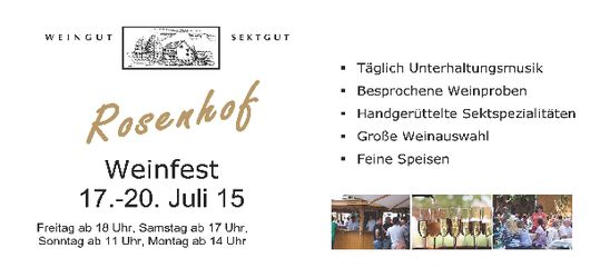 Weinfest Rosenhof 2015