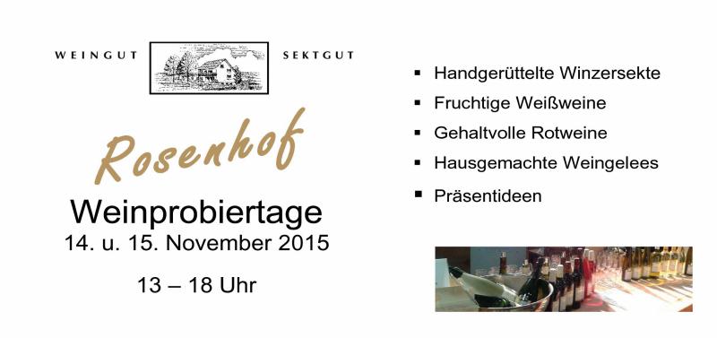 Weinprobiertage 2015